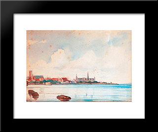 Port Of Elsinore: Modern Black Framed Art Print by Ioannis Altamouras