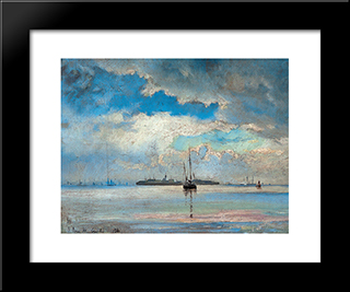 Seascape: Modern Black Framed Art Print by Ioannis Altamouras