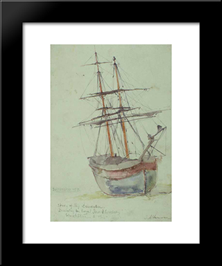 Study On The Ship Esmeralda: Modern Black Framed Art Print by Ioannis Altamouras