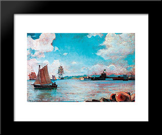 View Of The Sea: Modern Black Framed Art Print by Ioannis Altamouras