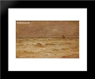 Waves: Modern Black Framed Art Print by Ioannis Altamouras