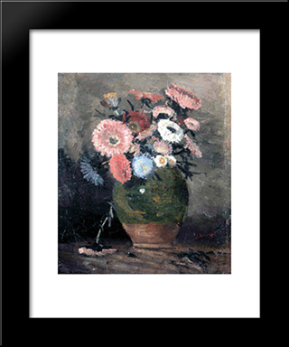 Chrysanthemum: Modern Black Framed Art Print by Ion Andreescu