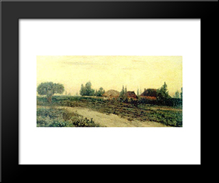 Country Road: Modern Black Framed Art Print by Ion Andreescu