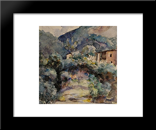 Mountain Landscape: Modern Black Framed Art Print by Ion Andreescu