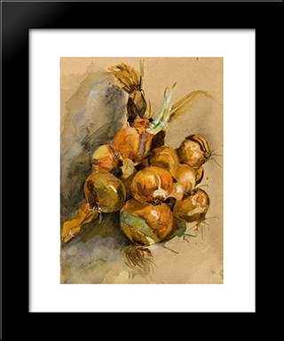 Onions: Modern Black Framed Art Print by Ion Andreescu