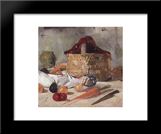 Still Life: Modern Black Framed Art Print by Ion Andreescu