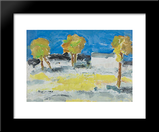 2 Mai Beach: Modern Black Framed Art Print by Ion Pacea