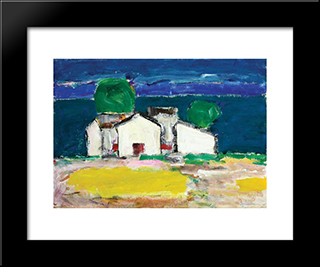 Case La Mare: Modern Black Framed Art Print by Ion Pacea