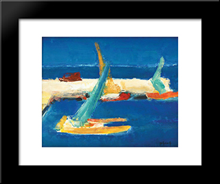 Marina: Modern Black Framed Art Print by Ion Pacea