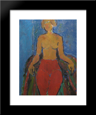 Nud In Fotoliu: Modern Black Framed Art Print by Ion Pacea