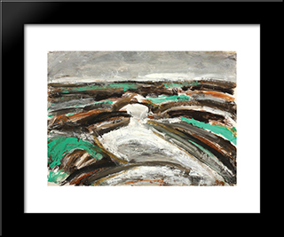 Peisaj: Modern Black Framed Art Print by Ion Pacea