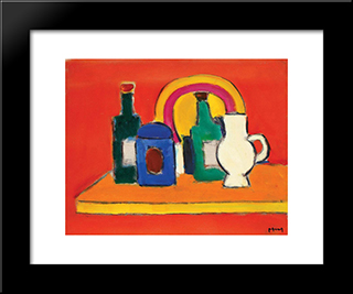 Still Life: Modern Black Framed Art Print by Ion Pacea