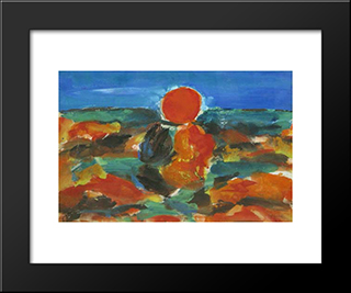 Sunset: Modern Black Framed Art Print by Ion Pacea