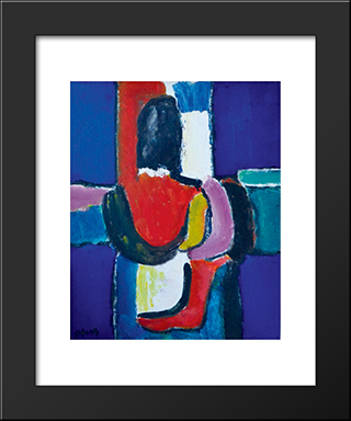 Totem: Modern Black Framed Art Print by Ion Pacea