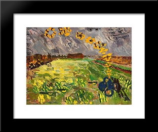 Butterfly Spring: Modern Black Framed Art Print by Ion Tuculescu