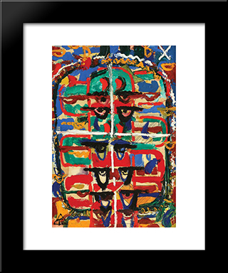 Compositon: Modern Black Framed Art Print by Ion Tuculescu