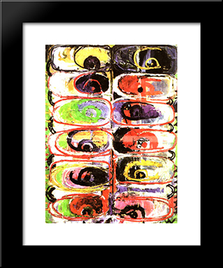 Looks Of The Colors: Modern Black Framed Art Print by Ion Tuculescu