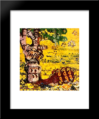 Looks Of The Shadow: Modern Black Framed Art Print by Ion Tuculescu
