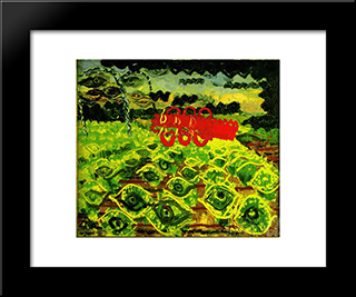 Moods Of The Field: Modern Black Framed Art Print by Ion Tuculescu