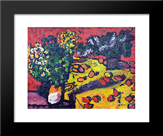 Red Eggs: Modern Black Framed Art Print by Ion Tuculescu