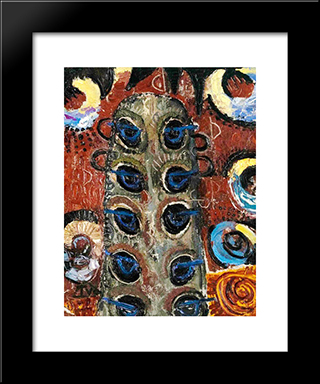 The Peacocks Of The Looks: Modern Black Framed Art Print by Ion Tuculescu