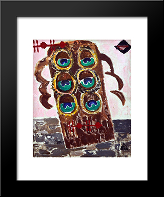 The Secret Of The Peacocks: Modern Black Framed Art Print by Ion Tuculescu