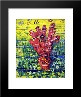 Totem On The Field: Modern Black Framed Art Print by Ion Tuculescu