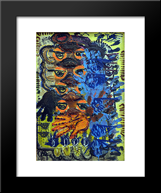 Traces: Modern Black Framed Art Print by Ion Tuculescu