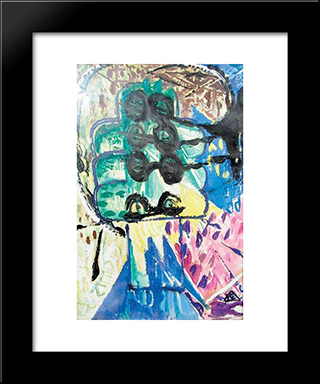 Travelling Eyes: Modern Black Framed Art Print by Ion Tuculescu