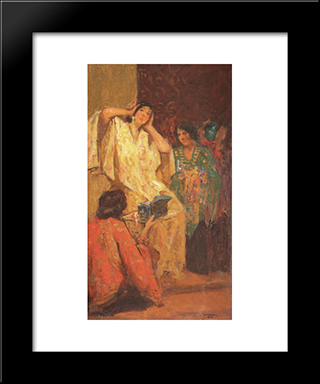 After Bath: Modern Black Framed Art Print by Ipolit Strambu