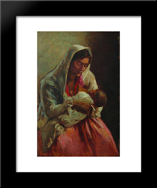 Maternity: Modern Black Framed Art Print by Ipolit Strambu