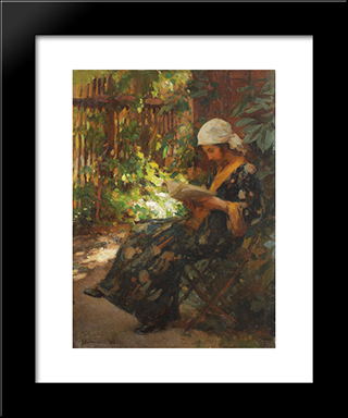 Summer Afternoon: Modern Black Framed Art Print by Ipolit Strambu