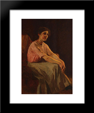 Thinking: Modern Black Framed Art Print by Ipolit Strambu