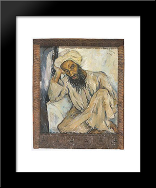 Arab Priest: Modern Black Framed Art Print by Irma Stern