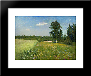 A Day In June: Modern Black Framed Art Print by Isaac Levitan