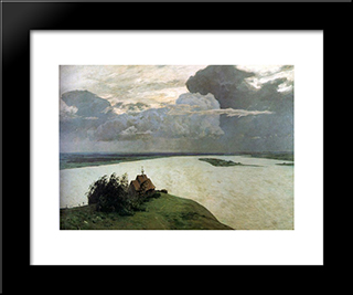 Above The Eternal Tranquility: Modern Black Framed Art Print by Isaac Levitan