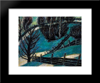 Fences: Modern Black Framed Art Print by Istvan Nagy