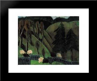 From My Szekely Homeland (Sheep): Modern Black Framed Art Print by Istvan Nagy