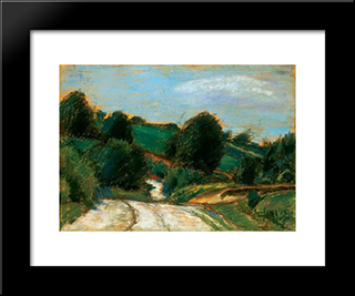 Hill Landscape: Modern Black Framed Art Print by Istvan Nagy