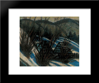 Hills With Blue Shades: Modern Black Framed Art Print by Istvan Nagy
