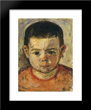 Little Boy: Modern Black Framed Art Print by Istvan Nagy
