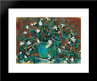 Mistletoe Bunch: Modern Black Framed Art Print by Istvan Nagy