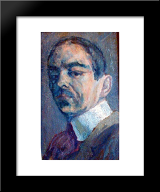 Self Portrait: Modern Black Framed Art Print by Istvan Nagy
