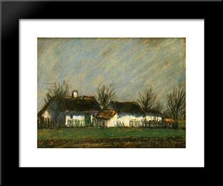 Vernal Sunshine: Modern Black Framed Art Print by Istvan Nagy