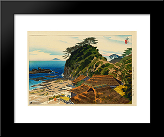 Shirahama In The Morning: Modern Black Framed Art Print by Ito Shinsui