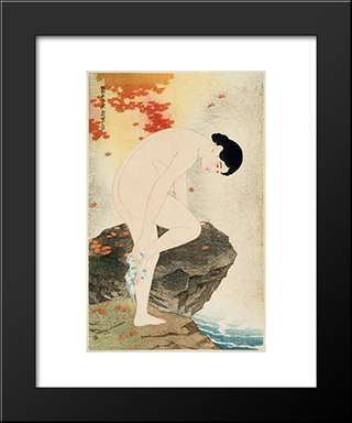 The Fragrance Of A Bath: Modern Black Framed Art Print by Ito Shinsui