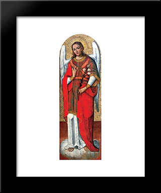 Archangel Gabriel: Modern Black Framed Art Print by Ivan Rutkovych