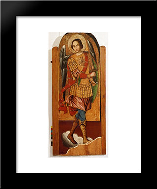 Archangel Michael: Modern Black Framed Art Print by Ivan Rutkovych