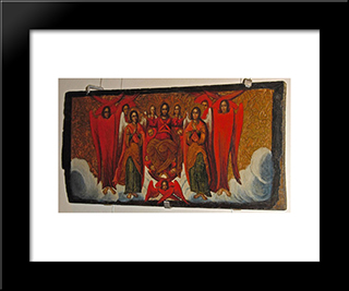Christ In Glory: Modern Black Framed Art Print by Ivan Rutkovych