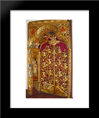 Royal Gates Of The Zhovkva Iconostasis: Modern Black Framed Art Print by Ivan Rutkovych